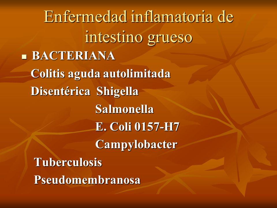 Enfermedad inflamatoria de intestino grueso