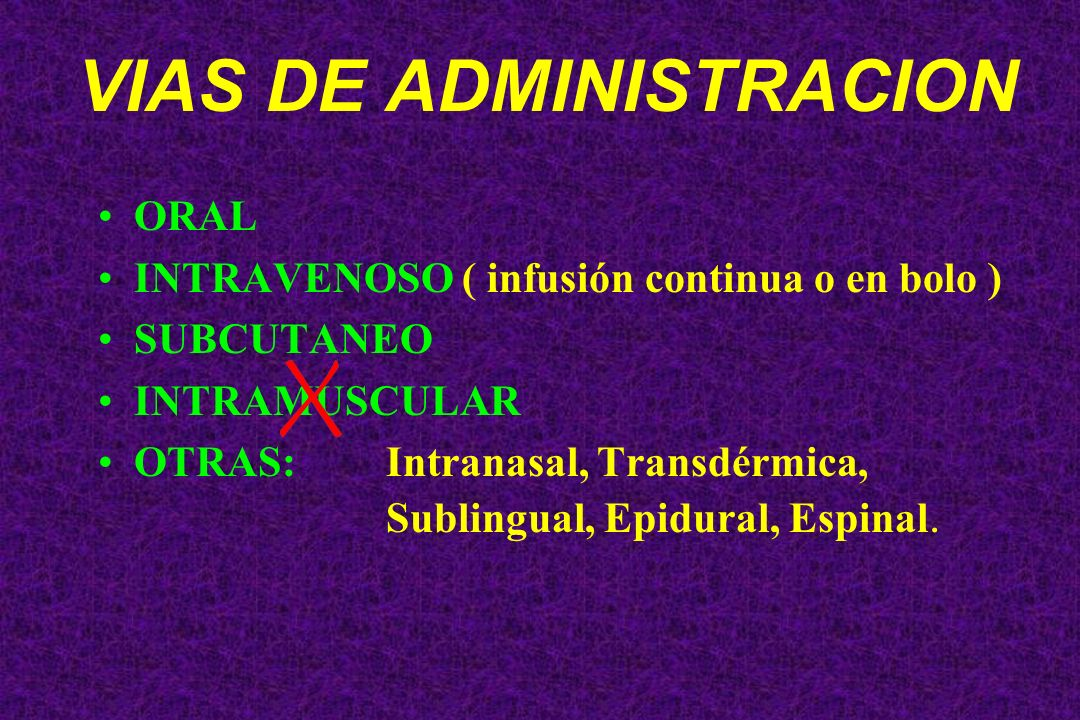 VIAS DE ADMINISTRACION
