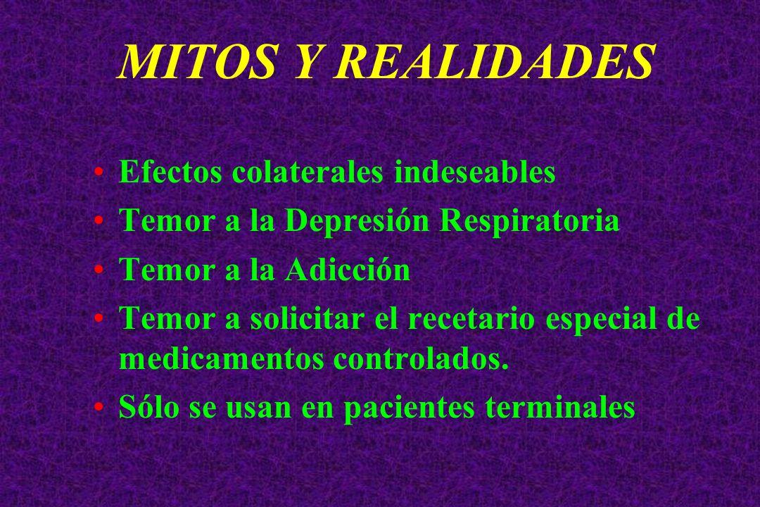 MITOS Y REALIDADES Efectos colaterales indeseables