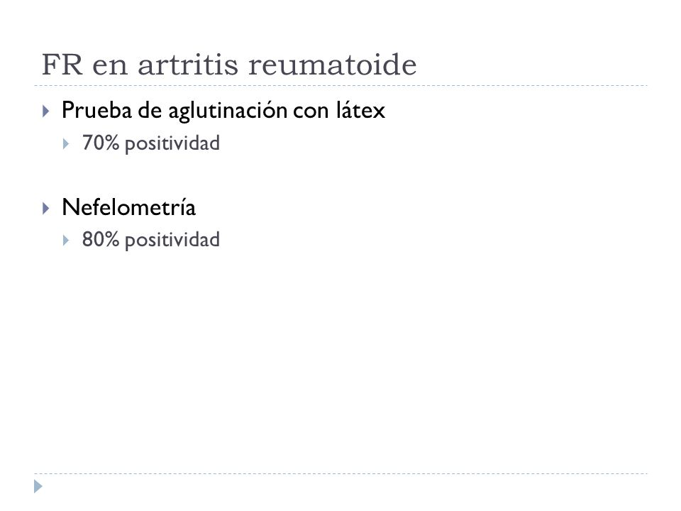 FR en artritis reumatoide
