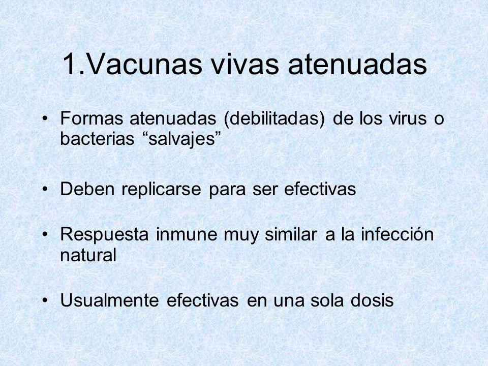 1.Vacunas vivas atenuadas