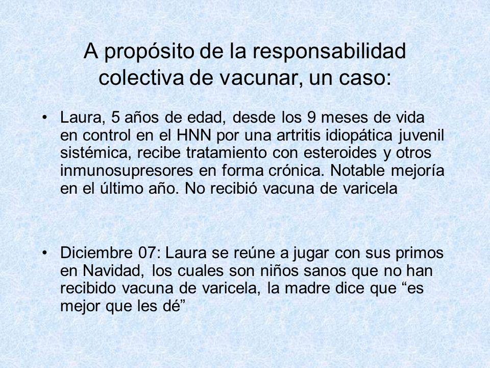 A propósito de la responsabilidad colectiva de vacunar, un caso:
