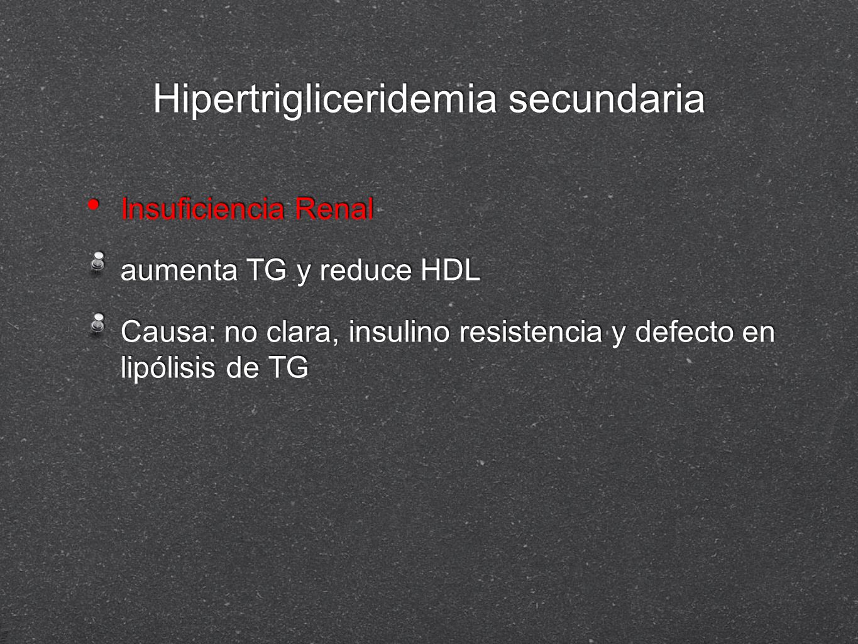 Hipertrigliceridemia secundaria
