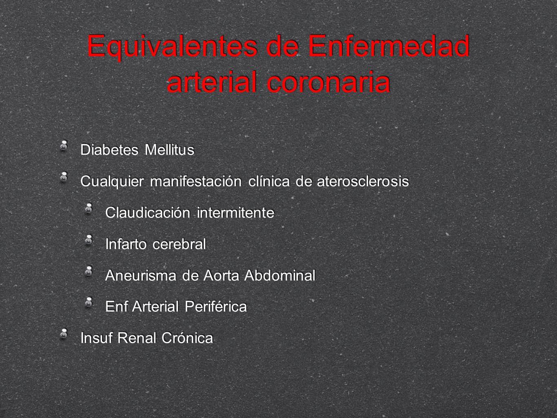 Equivalentes de Enfermedad arterial coronaria