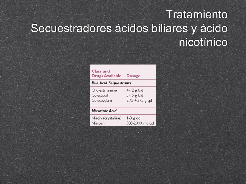 Tratamiento Secuestradores ácidos biliares y ácido nicotínico