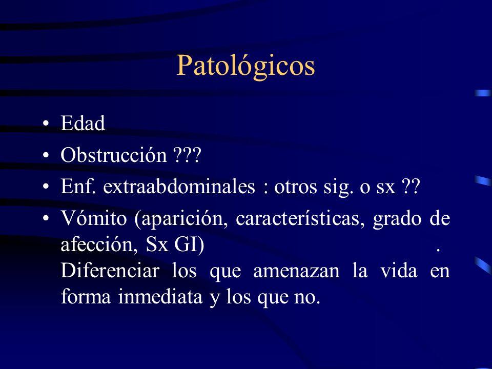 Patológicos Edad Obstrucción