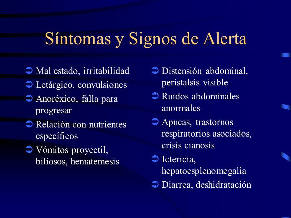 Síntomas y Signos de Alerta