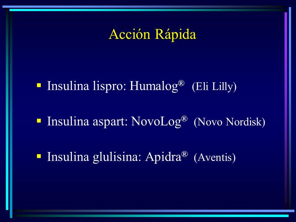 Acción Rápida Insulina lispro: Humalog® (Eli Lilly)
