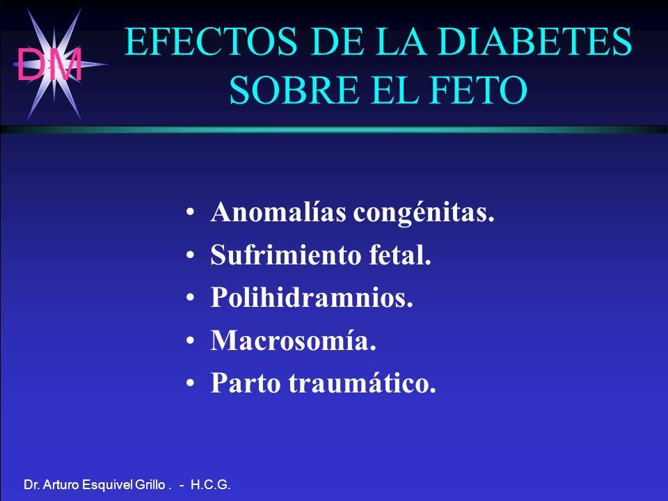 EFECTOS DE LA DIABETES SOBRE EL FETO