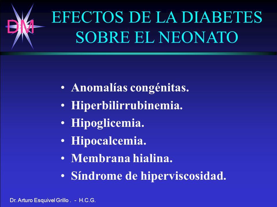 EFECTOS DE LA DIABETES SOBRE EL NEONATO