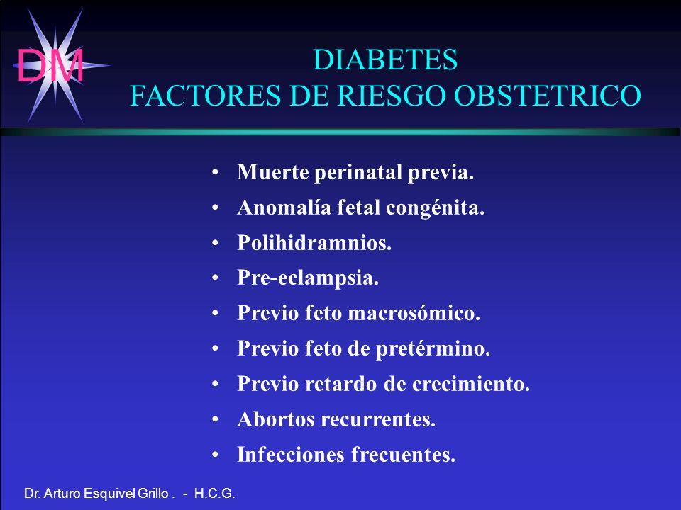 FACTORES DE RIESGO OBSTETRICO