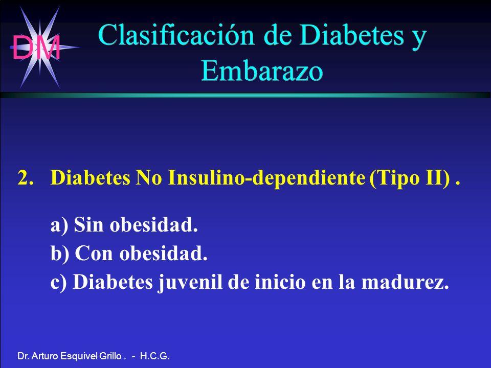 Clasificación de Diabetes y Embarazo