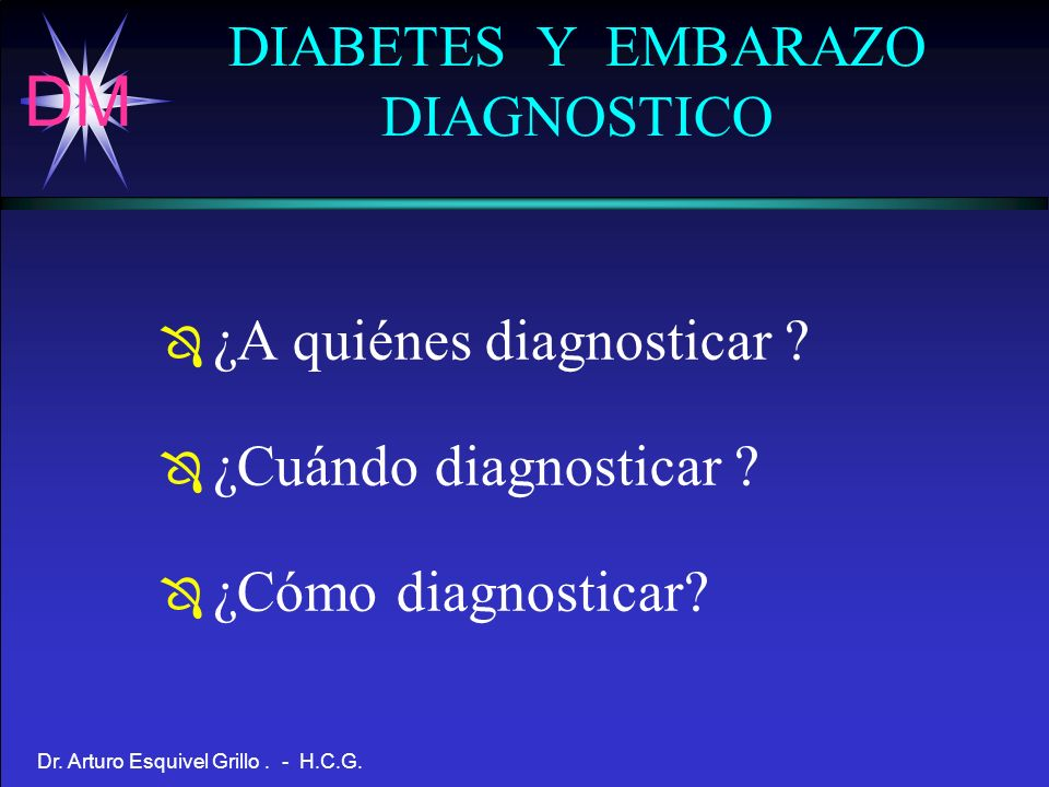 DIABETES Y EMBARAZO DIAGNOSTICO