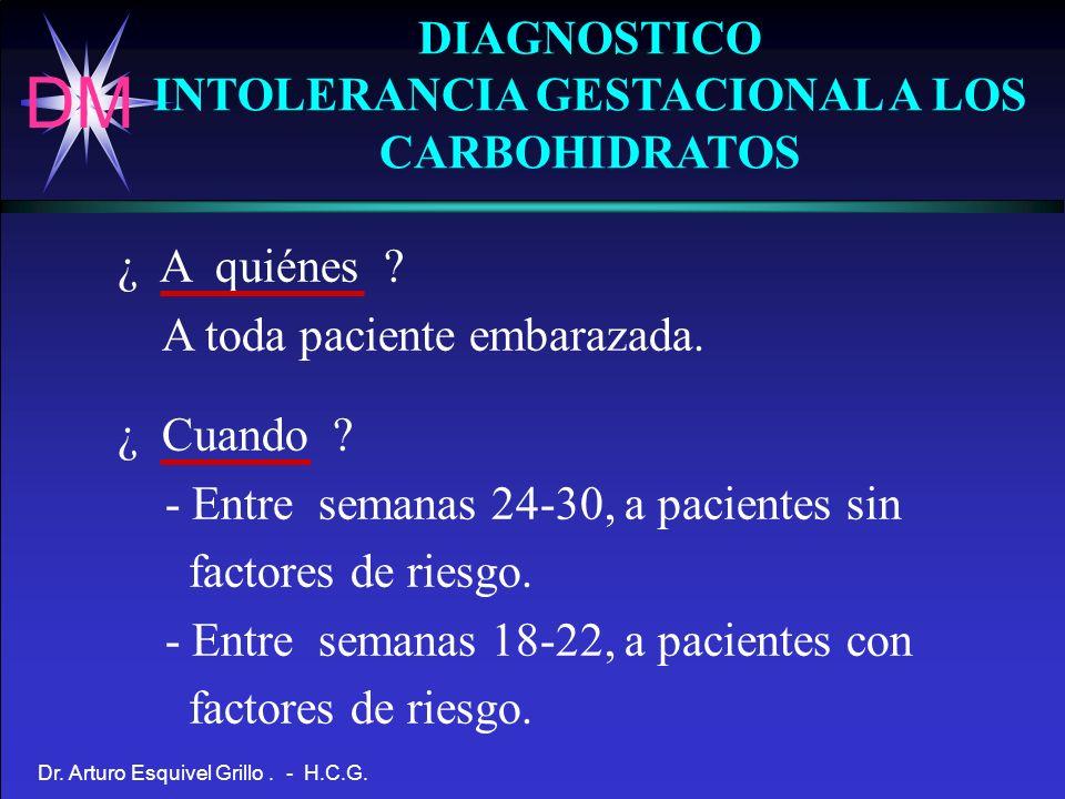 INTOLERANCIA GESTACIONAL A LOS CARBOHIDRATOS