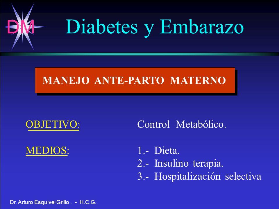 Diabetes y Embarazo MANEJO ANTE-PARTO MATERNO
