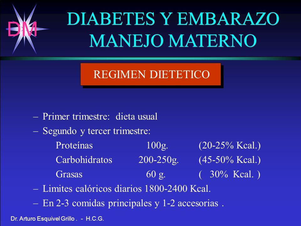 DIABETES Y EMBARAZO MANEJO MATERNO REGIMEN DIETETICO