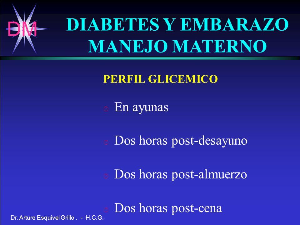 DIABETES Y EMBARAZO MANEJO MATERNO