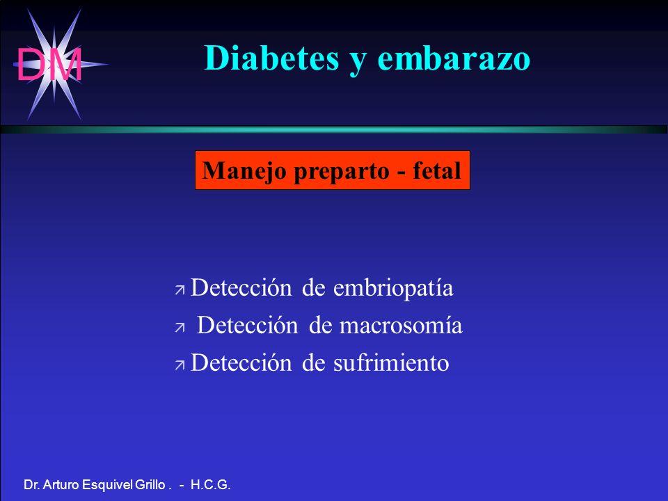 Diabetes y embarazo Manejo preparto - fetal Detección de embriopatía