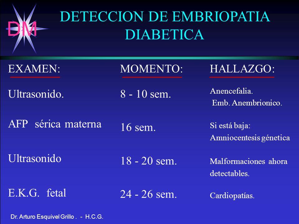 DETECCION DE EMBRIOPATIA DIABETICA