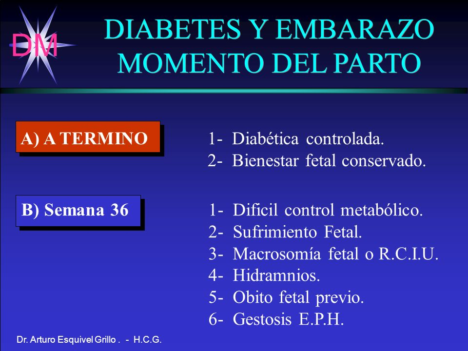 DIABETES Y EMBARAZO MOMENTO DEL PARTO