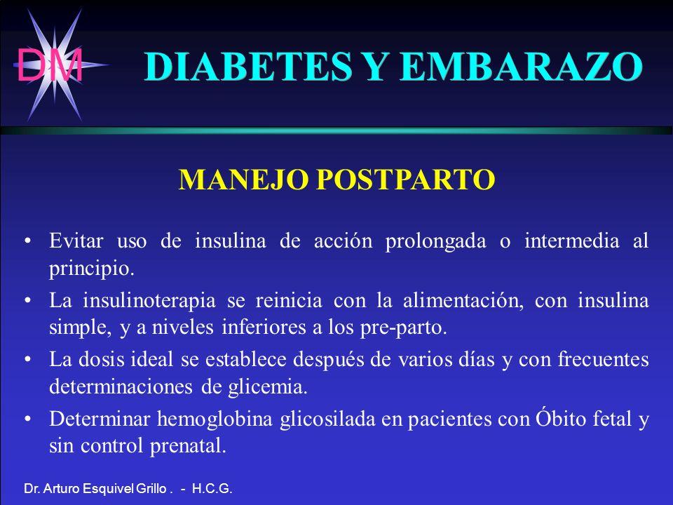 DIABETES Y EMBARAZO MANEJO POSTPARTO