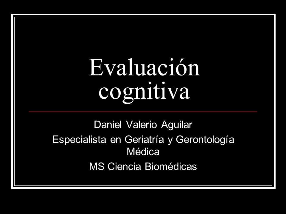 Evaluación cognitiva Daniel Valerio Aguilar
