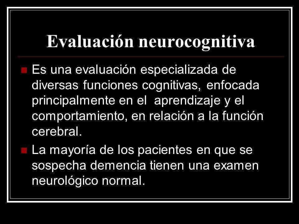 Evaluación neurocognitiva