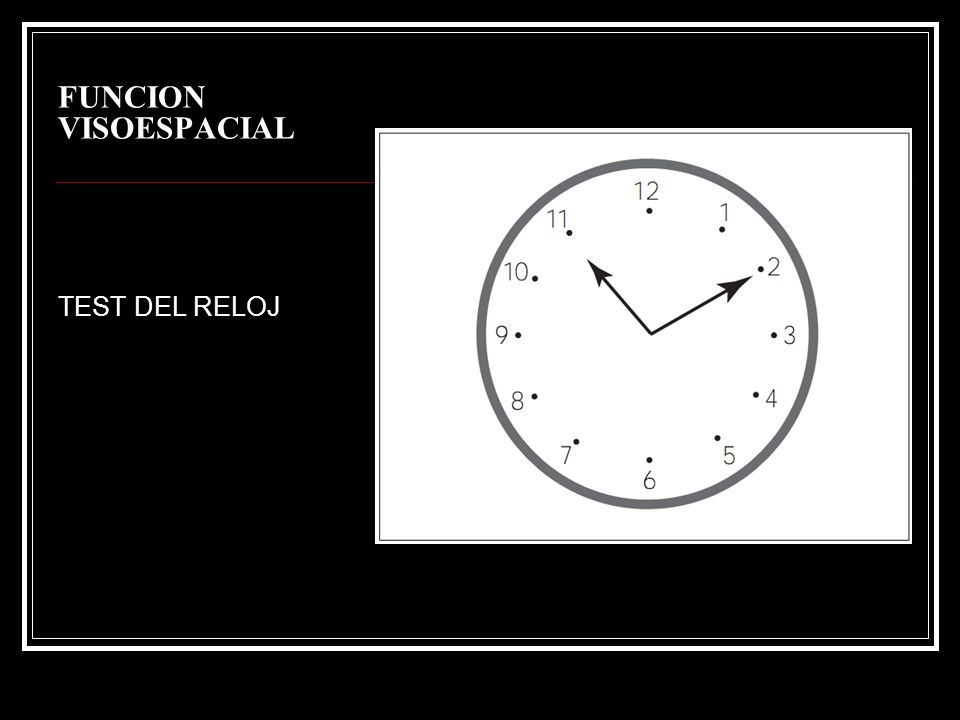 FUNCION VISOESPACIAL TEST DEL RELOJ