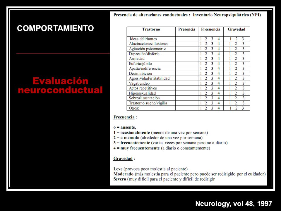 Evaluación neuroconductual