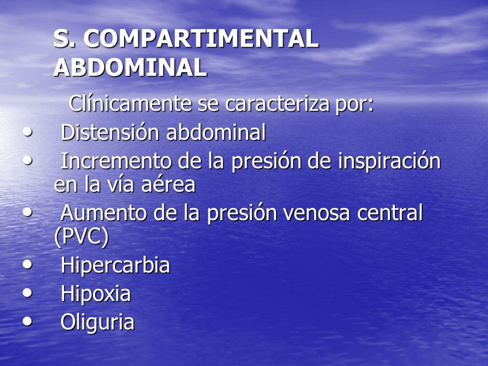 S. COMPARTIMENTAL ABDOMINAL