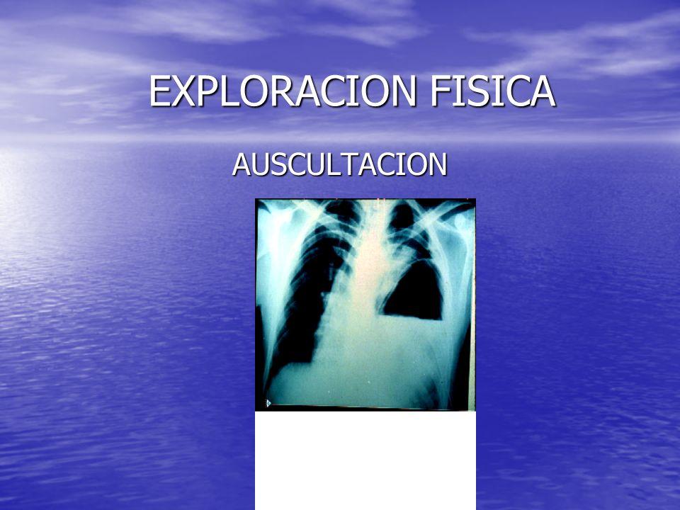 EXPLORACION FISICA AUSCULTACION