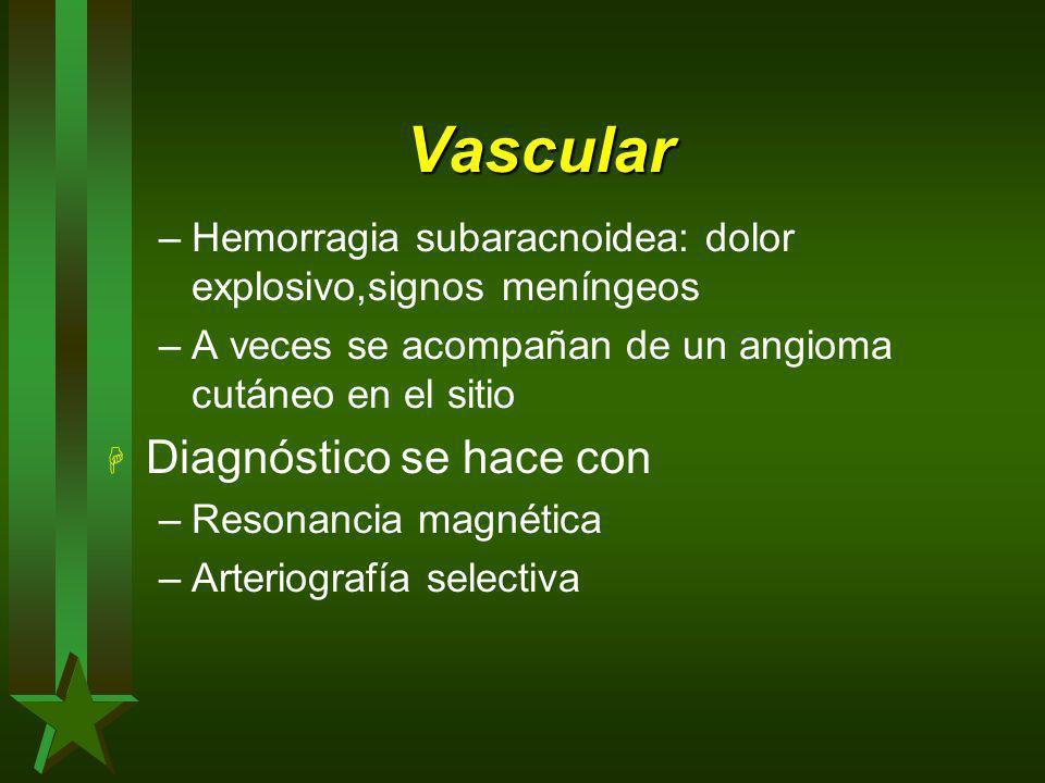 Vascular Diagnóstico se hace con