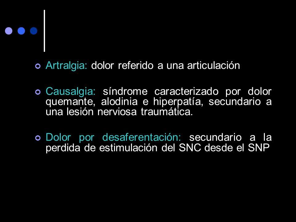 Artralgia: dolor referido a una articulación