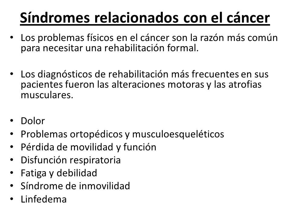 Síndromes relacionados con el cáncer