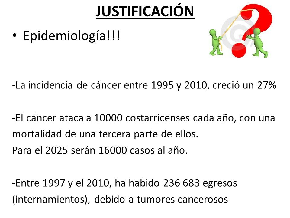 JUSTIFICACIÓN Epidemiología!!!