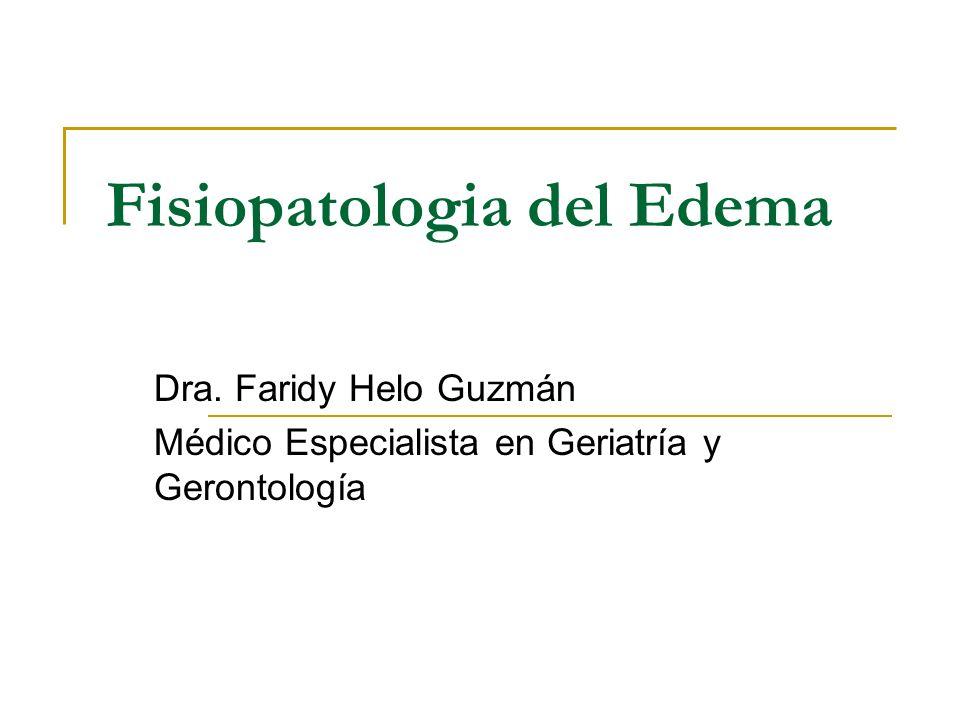 Fisiopatologia del Edema