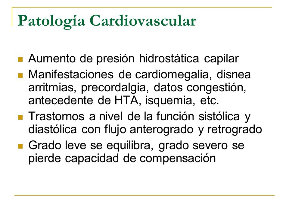 Patología Cardiovascular
