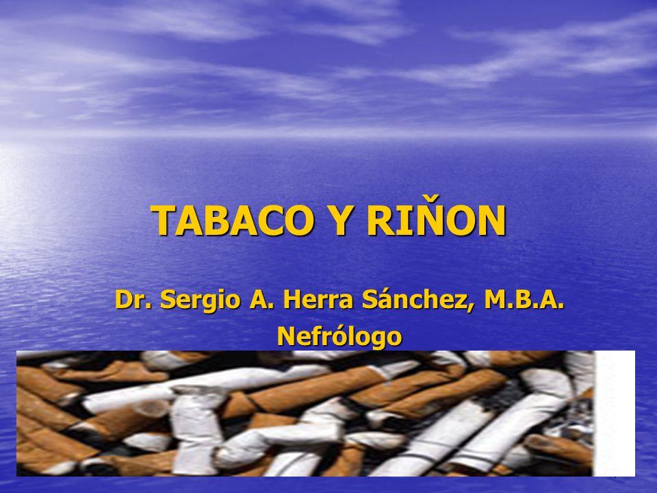 Dr. Sergio A. Herra Sánchez, M.B.A. Nefrólogo