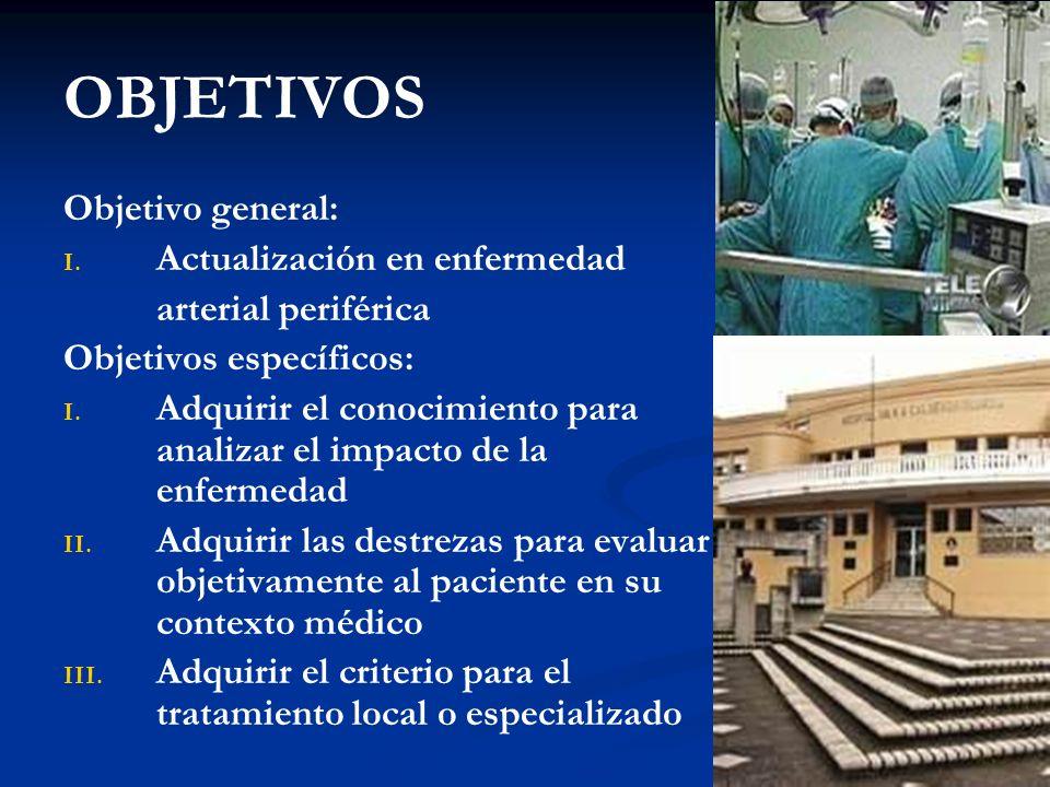 OBJETIVOS Objetivo general: Actualización en enfermedad