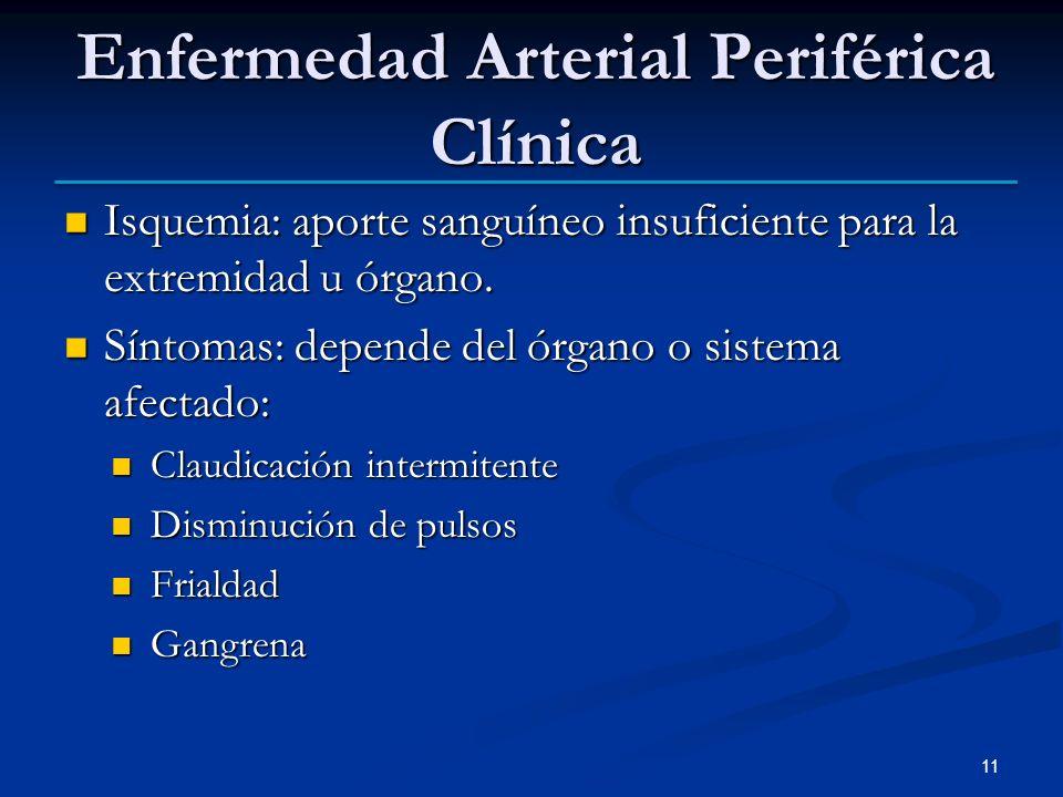 Enfermedad Arterial Periférica Clínica