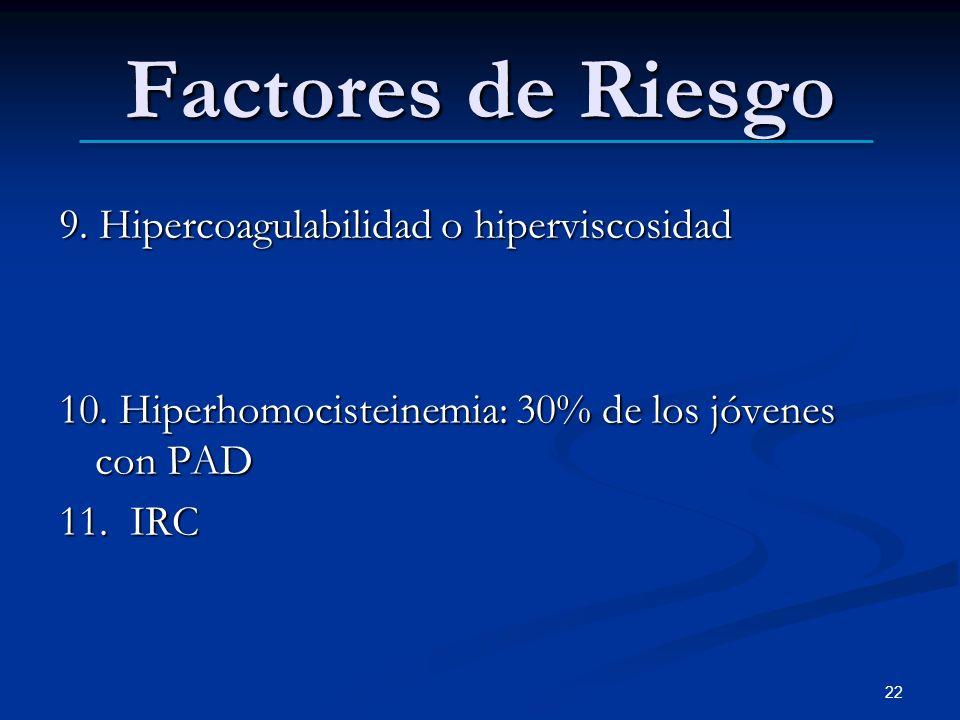 Factores de Riesgo 9. Hipercoagulabilidad o hiperviscosidad
