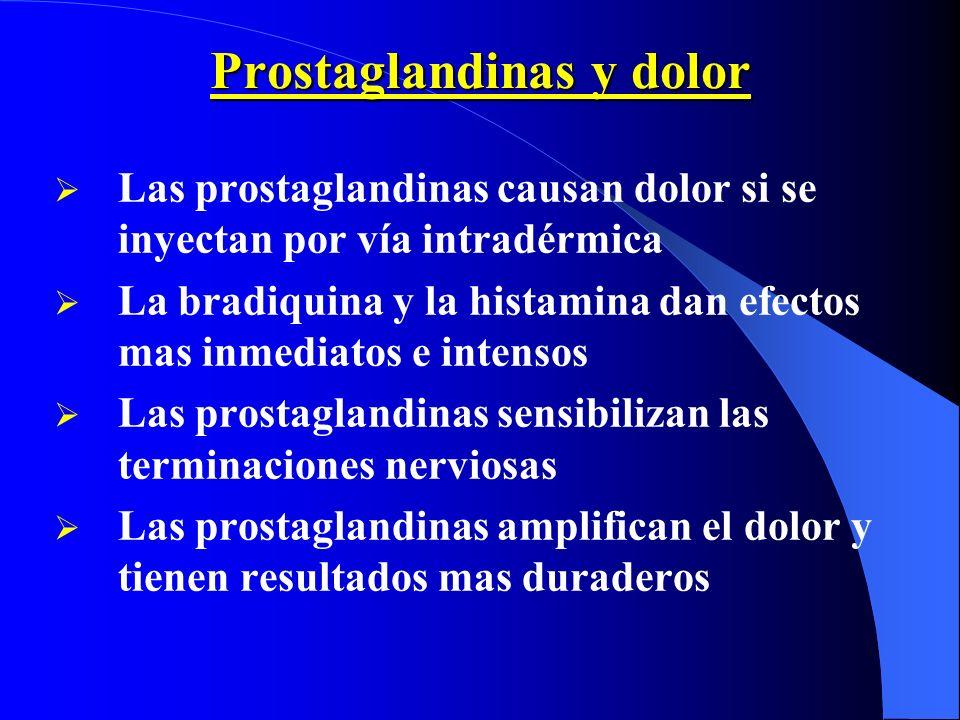 Prostaglandinas y dolor