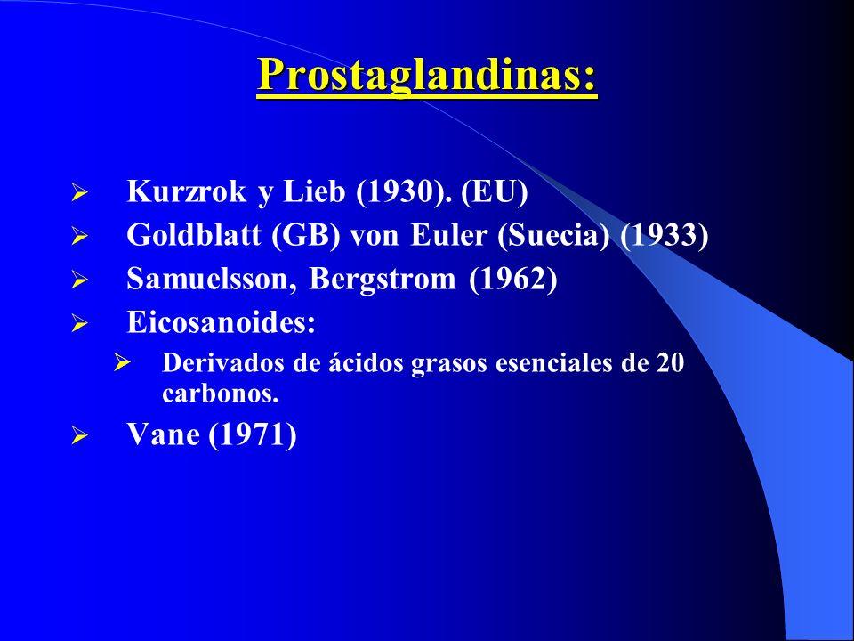Prostaglandinas: Kurzrok y Lieb (1930). (EU)