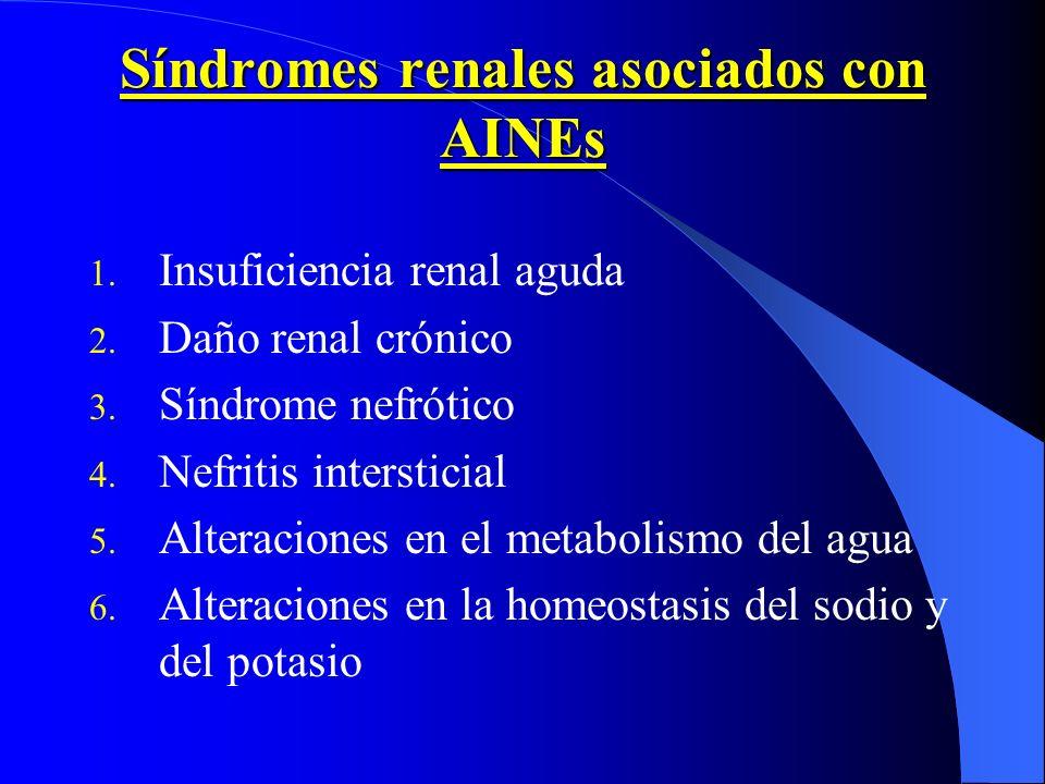 Síndromes renales asociados con AINEs