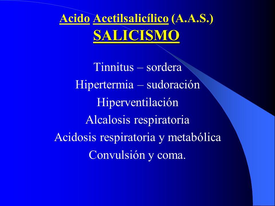 Acido Acetilsalicílico (A.A.S.) SALICISMO