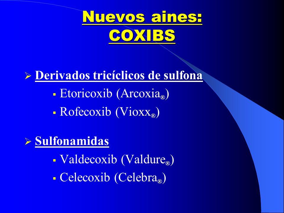 Nuevos aines: COXIBS Derivados tricíclicos de sulfona