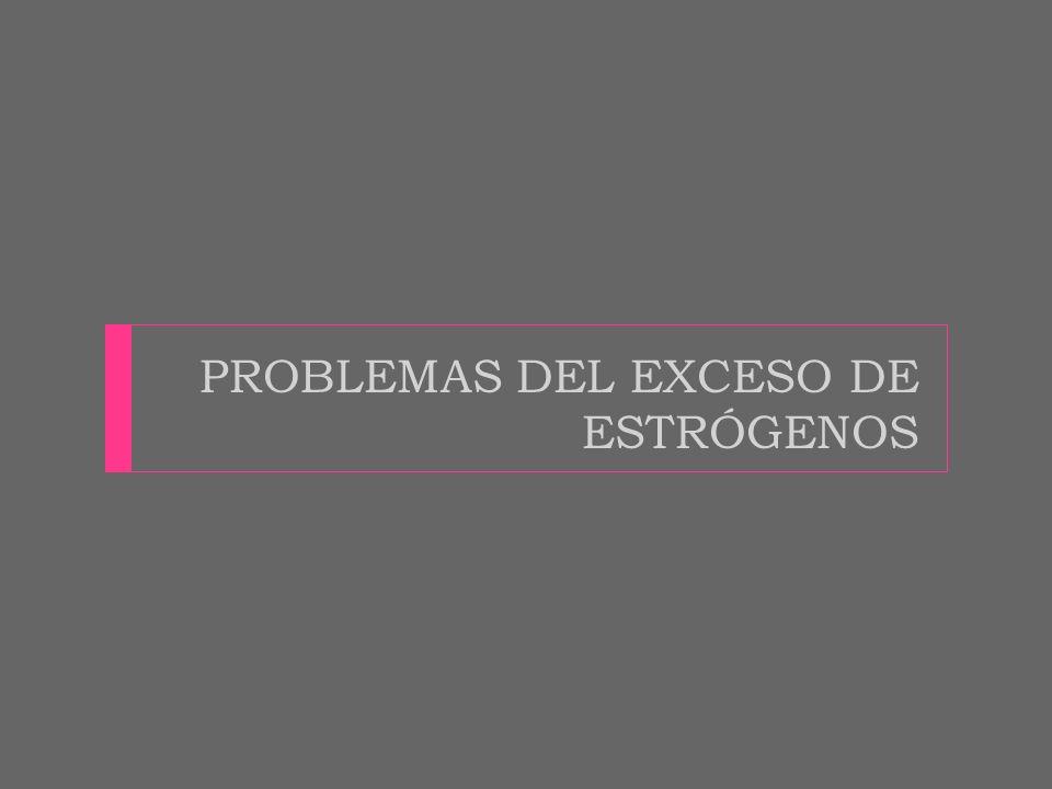 PROBLEMAS DEL EXCESO DE ESTRÓGENOS