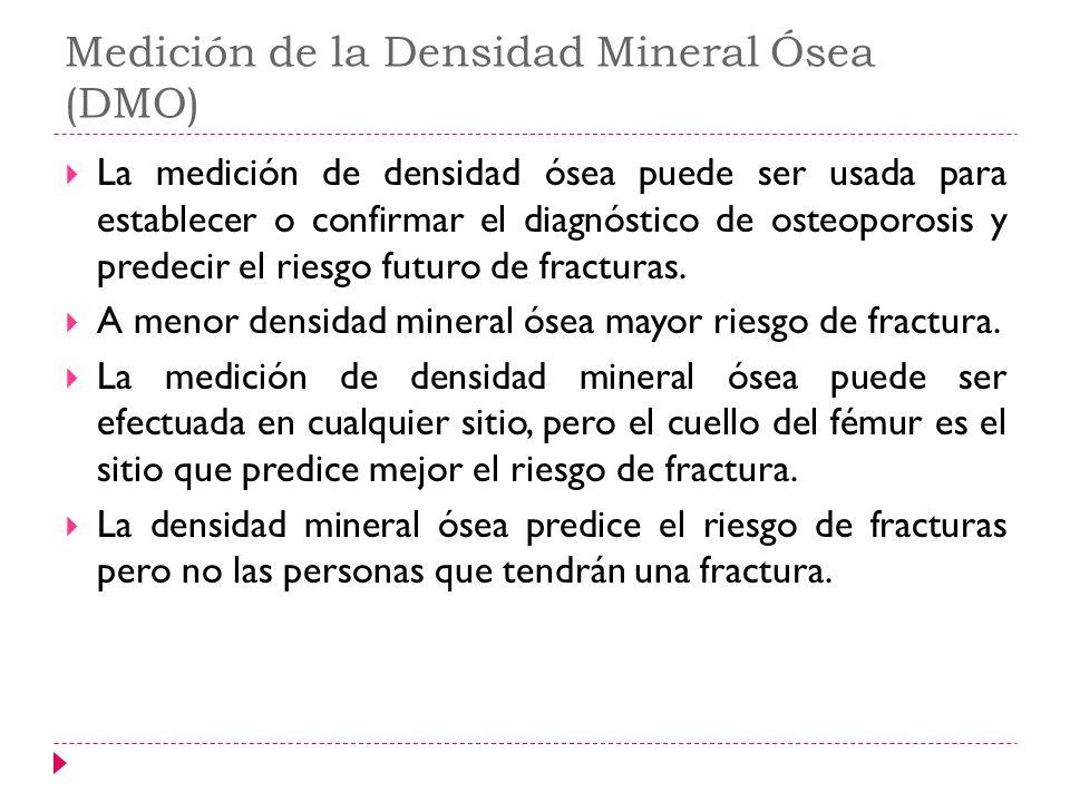 Medición de la Densidad Mineral Ósea (DMO)