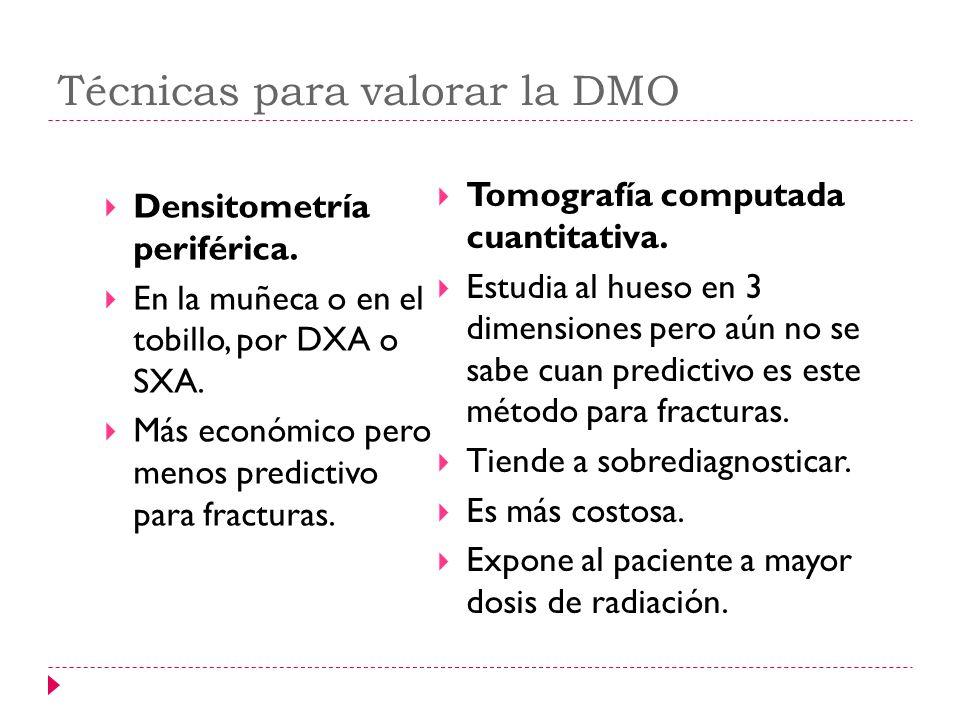 Técnicas para valorar la DMO