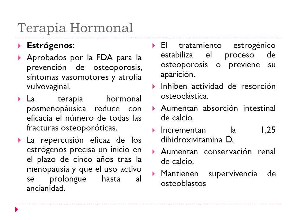 Terapia Hormonal Estrógenos: